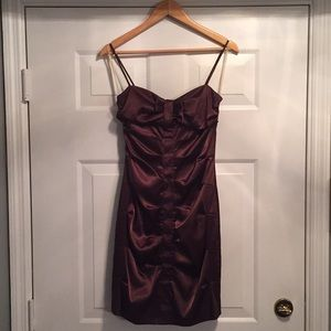 Chocolate Brown Ruched Formal Dress 🍫